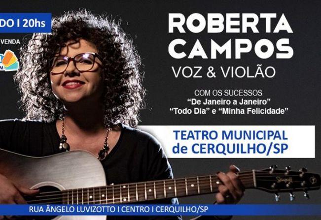 Roberta Campos - Voz e Violão apresenta show no Teatro Municipal
